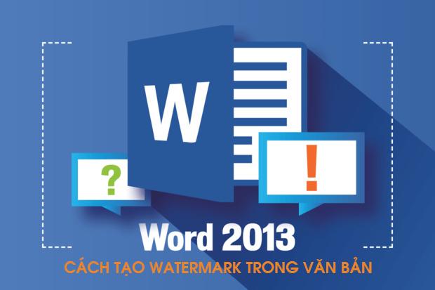 Tạo watermark trong word