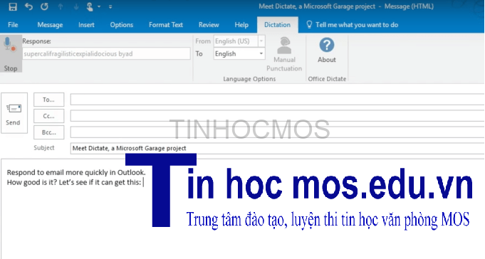 microsoft thu nghiem dictate trong office