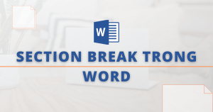 section break trong word